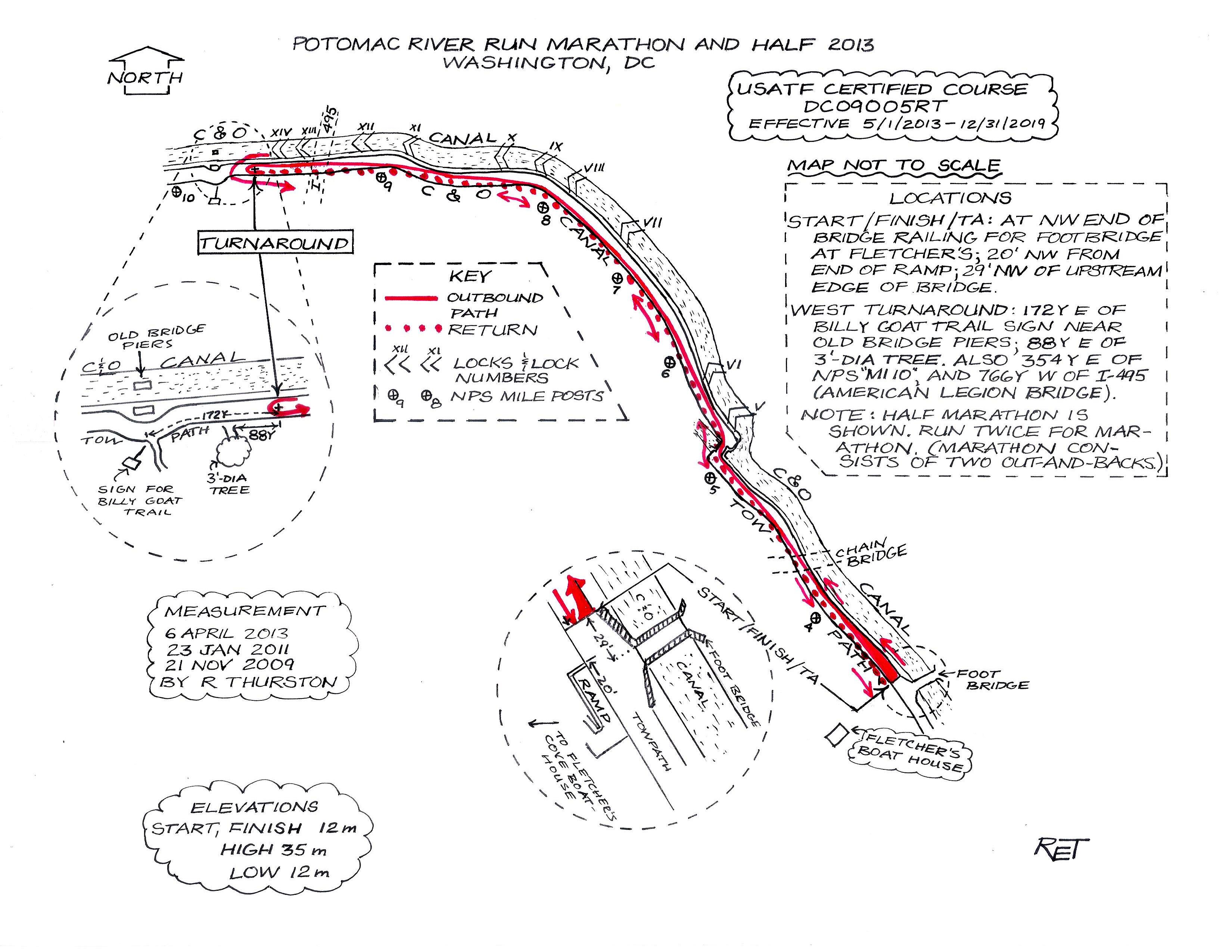 Potomac River Physical Map